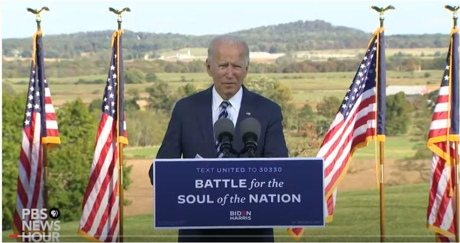 Joe Biden Gettysburg Campaign Speech October 6